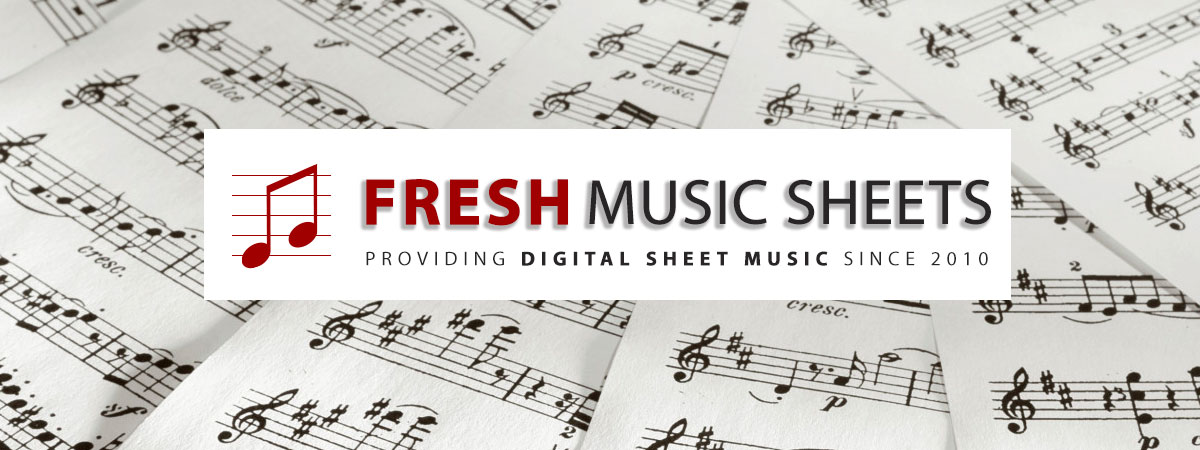 Digial Sheet Music Notes and Printable PDF Score